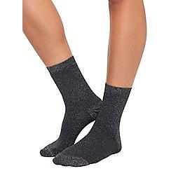 Miss Selfridge - Silver metallic sock