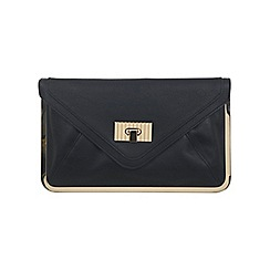 Miss Selfridge - Black metal frame clutch bag