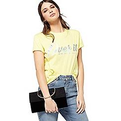 Miss Selfridge - Black O ring clutch bag