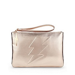 Miss Selfridge - Lightning bolt clutch
