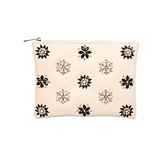 Miss Selfridge - Pink embellished clutch bag