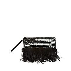Miss Selfridge - Feather clutch bag