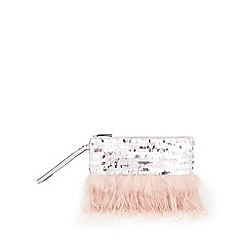Miss Selfridge - Feather clutch bag