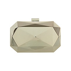 Miss Selfridge - Gold geo hard case clutch