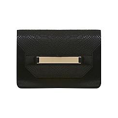 Miss Selfridge - Black snake clutch bag