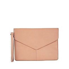 Miss Selfridge - Pink envelope clutch bag