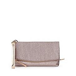 Miss Selfridge - Glitter foldover clutch