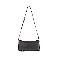 Miss Selfridge - Foldover black clutch bag
