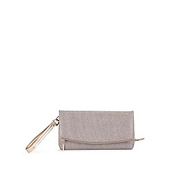 Miss Selfridge - Glitter zip top clutch