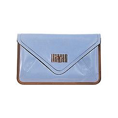Miss Selfridge - Blue metal frame clutch bag