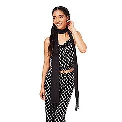 Miss Selfridge - Black skinny scarf