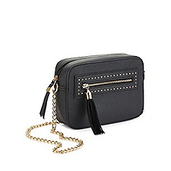 Miss Selfridge - Black cross body box bag