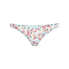 Miss Selfridge - Aqua multi floral thong