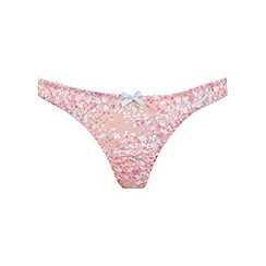 Miss Selfridge - Pink rose ditsy floral thong