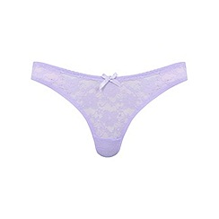 Miss Selfridge - Lilac lace thong