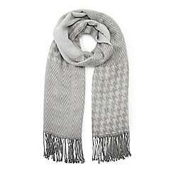 Miss Selfridge - Grey patchwork scarf