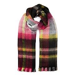 Miss Selfridge - Multi check reversible scarf