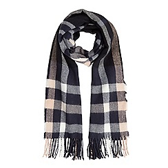 Miss Selfridge - Navy check scarf