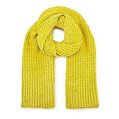 Miss Selfridge - Yellow Chenille scarf