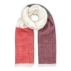 Miss Selfridge - Burgundy stripe scarf