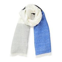 Miss Selfridge - Blue stripe scarf