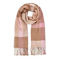 Miss Selfridge - Camel check scarf