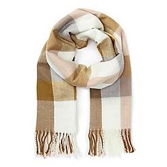 Miss Selfridge - Gingam pink/cream/camel scarf