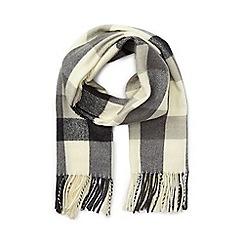 Miss Selfridge - Black/white gingham scarf