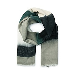 Miss Selfridge - Green ombre stripe scarf