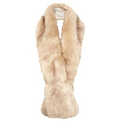 Miss Selfridge - Cream faux fur stole