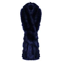 Miss Selfridge - Navy faux fur stole scarf