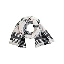 Miss Selfridge - Nude oversized check scarf
