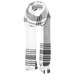 Miss Selfridge - Monochrome large check scarf