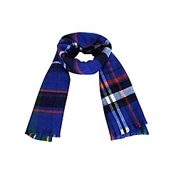 Miss Selfridge - Blue oversized check scarf