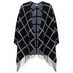 Miss Selfridge - Black window pane check cape