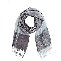 Miss Selfridge - Blue brushed check scarf