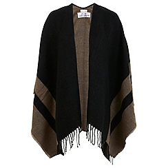 Miss Selfridge - Taupe block stripe cape