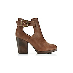 Miss Selfridge - Amour tan cut out boot