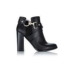Miss Selfridge - Ava black snaffle ankle boots