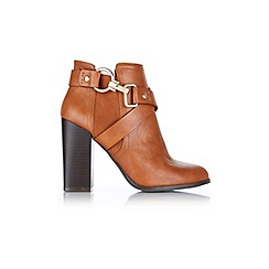 Miss Selfridge - Ava tan snaffle ankle boots