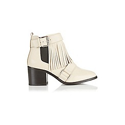 Miss Selfridge - Ace real leather fringe boots