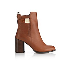 Miss Selfridge - Ally tan leather ankle boots