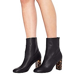 Miss Selfridge - Arlo contrast heel zip boot