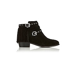 Miss Selfridge - Aideen suede fringe ankle boot