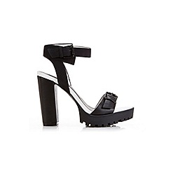Miss Selfridge - Chicago black cleated sandal