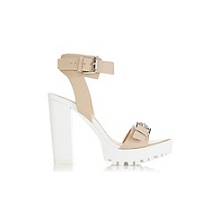 Miss Selfridge - Chicago nude cleated sandal