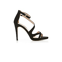 Miss Selfridge - Clover black strappy sandal