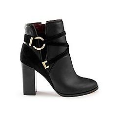 Miss Selfridge - Dallas black circle wrap boots