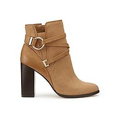 Miss Selfridge - Dallas tan circle wrap boots