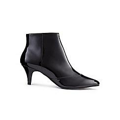 Miss Selfridge - Dita patent kitten heel boots